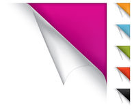 Colorful vector page curled corners Royalty Free Stock Image