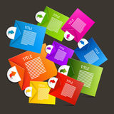 Colorful Vector Paper Sheets - Labels Royalty Free Stock Image