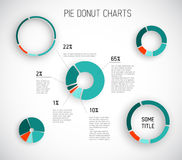 Free Colorful Vector Pie Chart Templates Stock Photography - 81853812