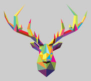Colorful Vector Polygon Stag Royalty Free Stock Photography