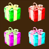 Colorful Vector Present Boxes Royalty Free Stock Image