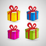 Colorful Vector Present Boxes Stock Image