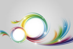 Colorful vector rainbow backdrop Royalty Free Stock Photos