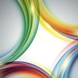 Colorful vector rainbow backdrop Royalty Free Stock Photography