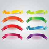 Colorful Vector Ribbons Set Stock Photos
