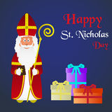 Colorful vector saint Nicholas character holiday eps10 Stock Image