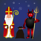 Colorful vector saint Nicolas character holiday eps10 Royalty Free Stock Image