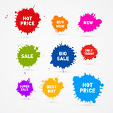 Colorful Vector Sale Blots Icons Royalty Free Stock Images