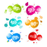 Colorful Vector Sale Blots Icons Set Stock Photo