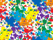 Colorful vector seamless background with spots and blotches. Royalty Free Stock Image