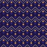 Colorful Vector seamless pattern. Abstract background with geome. Tric and zig zag line. Freshing color texture on navy blue background Royalty Free Stock Photos