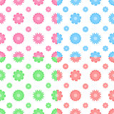 Colorful vector seamless pattern with flowers (tiling) Stock Photography