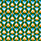 Colorful vector seamless pattern with green and orange droplets, Stock Image