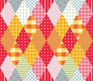 Colorful vector seamless pattern with rhombus. Royalty Free Stock Image