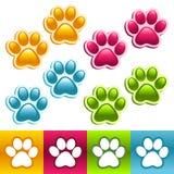 Colorful Animal Paws Royalty Free Stock Photos