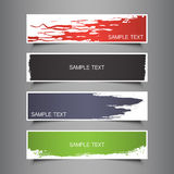 Colorful vector set of three header designs Stock Photography