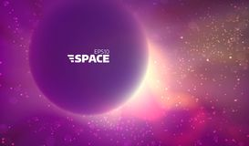 Colorful vector space background. Abstract nebula backdrop. Sun and star glowing. Colorful vector space background. Abstract nebula. Sun and star glowing Stock Images
