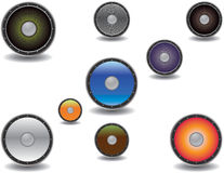 Colorful vector speaker set Stock Photography