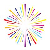 Firework burst vector. Colorful vector splash firework burst lines Royalty Free Stock Photo