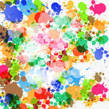 Colorful Vector Splashes Royalty Free Stock Photography