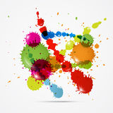 Colorful Vector Splashes Abstract Background. Isolated on Grey Background Vector Illustration