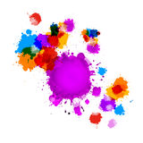Colorful Vector Splashes Abstract Background Royalty Free Stock Photos