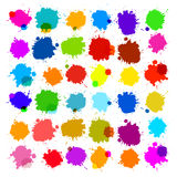 Colorful Vector Splashes Royalty Free Stock Images