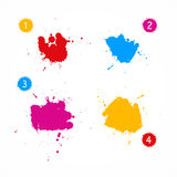 Colorful Vector Splashes Set Royalty Free Stock Images