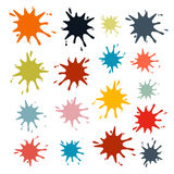 Colorful Vector Splashes Set Stock Photography