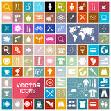 Colorful Vector Squares Flat Icons Set Royalty Free Stock Photos