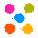 Colorful Vector Stains, Blots, Splashes Set Stock Photos