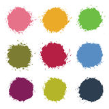 Colorful Vector Stains, Blots, Splashes Set Royalty Free Stock Images