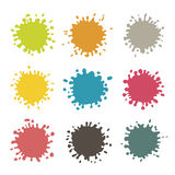 Colorful Vector Stains, Blots, Splashes Set stock illustration