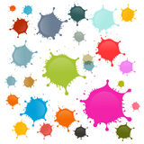 Colorful Vector Stains, Blots, Splashes Set. Isolated on White Background Royalty Free Stock Photo