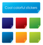 Colorful vector stickers Stock Photo