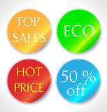 Colorful vector stickers set Royalty Free Stock Photography