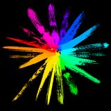Colorful vector sun. 19 hand drawn paintbrush, vector without gradient royalty free illustration