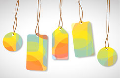 Colorful vector tags Stock Photography