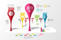 Colorful Vector Timeline Laout. Infographic Template vector illustration