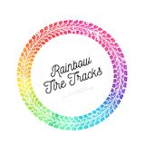 Colorful Vector Tire tracks. Colorful Tire tracks. Vector illustration on white background Royalty Free Stock Images