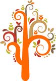 Colorful vector tree Stock Photos
