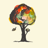 Colorful Vector Tree Royalty Free Stock Images