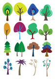 Colorful vector trees Royalty Free Stock Photo
