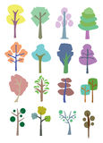 Colorful vector trees Stock Photography