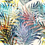 Colorful Vector Tropical Palm Leaves, Vacation Style. Ideal For Stock Photography