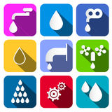 Colorful Vector Water Symbols Stock Photos