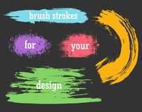 Colorful vector watercolor brush strokes Stock Image