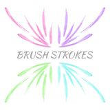 Colorful vector watercolor brush strokes Royalty Free Stock Photography