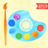 Colorful vector watercolor paint circles Royalty Free Stock Images