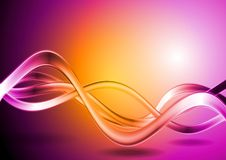 Colorful vector waves abstract backdrop Royalty Free Stock Image